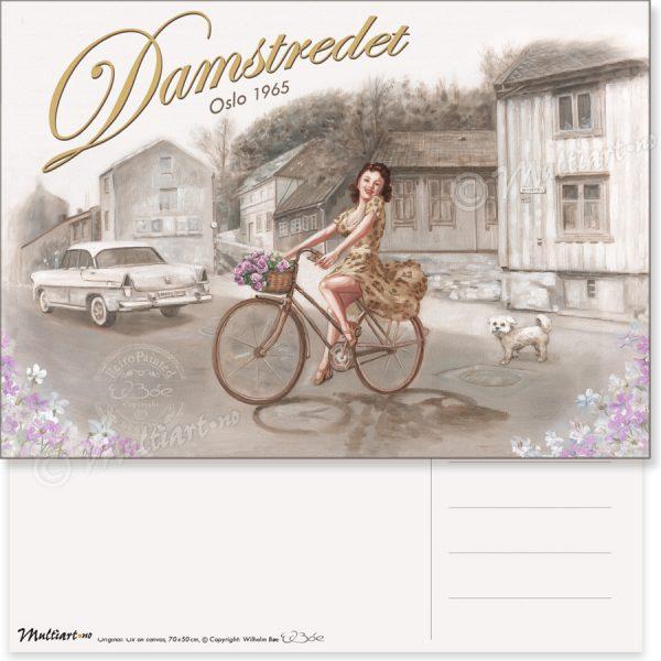 Damstredet 1965, Oslo, postkort poster