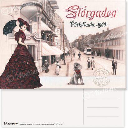 Postkort, Storgata i Oslo