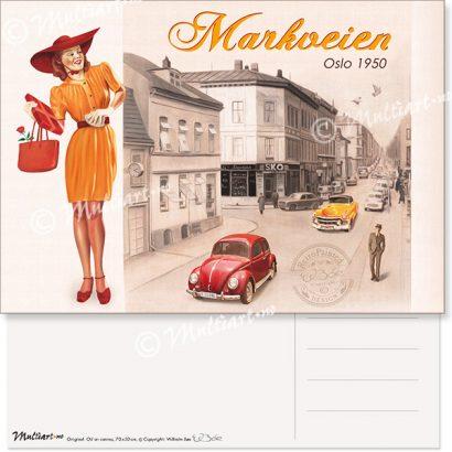 Postkort, Markveien i Oslo