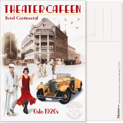 Postkort, Theatercafeen i Oslo