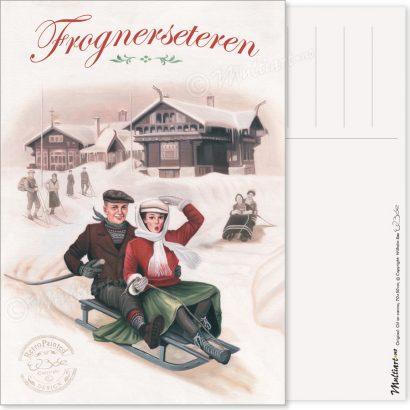 Postkort, Frognerseteren i Oslo