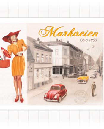 Plakat, Markveien i Oslo