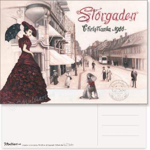 Storgata 1900, Oslo, postkort poster