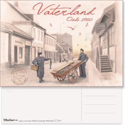 Vaterland 1950, Oslo, postkort poster