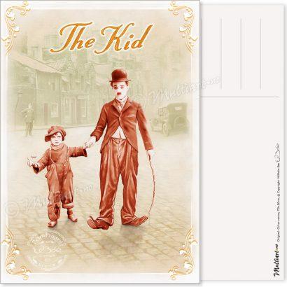 Charlie Chaplin – The Kid, postkort poster