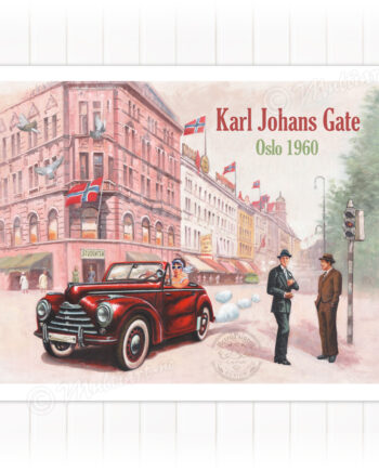 Plakat, Karl Johans gate i Oslo