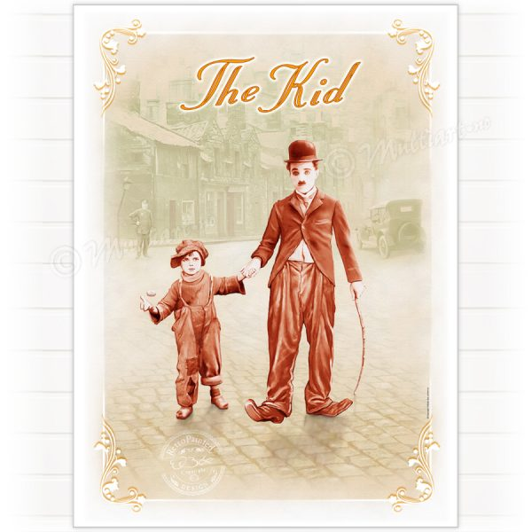 Poster, The Kid, Charlie Chaplin