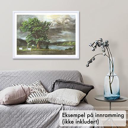 Den gamle mester. Maleri fra Krødsherad i Buskerud