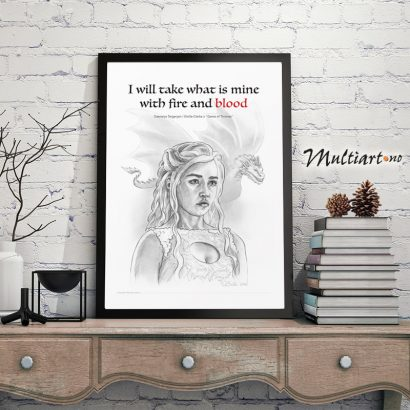 Daenerys Targaryen – Game of Thrones, poster plakat