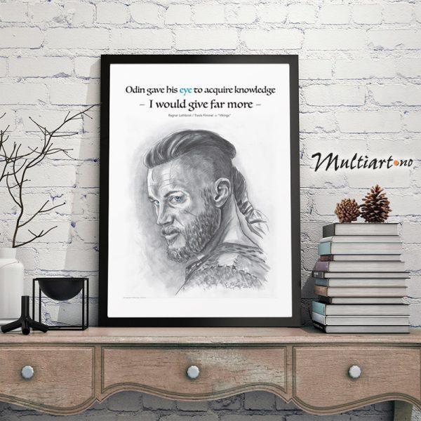 Ragnar Lodbrok – Vikings, poster plakat