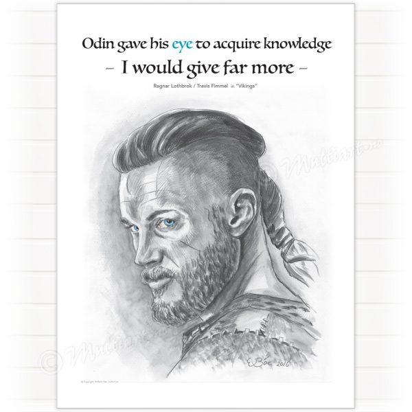 Poster, Ragnar Lodbrok – Vikings