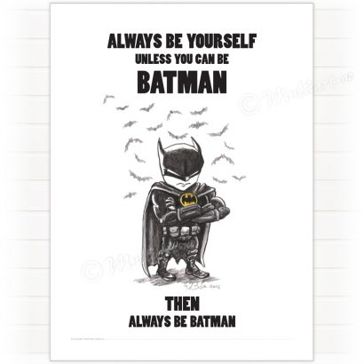 Poster, Batman - always be yourself