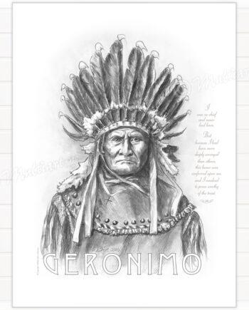 Plakat av Geronimo