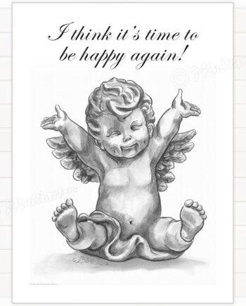 Plakat av Happy Cupid