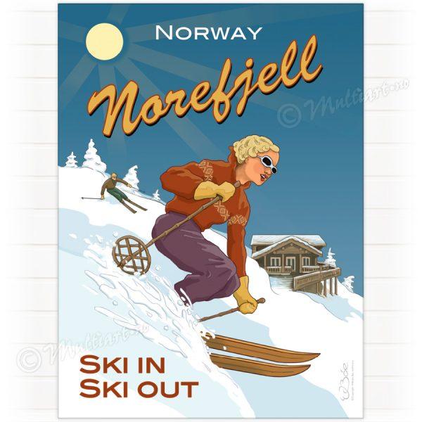 Skiplakat fra Norefjell