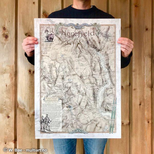 Norefjeld-kart fra 1856