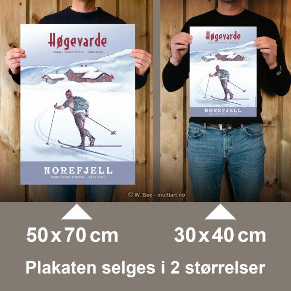 Plakaten selges i to størrelser: 30x40 og 50x70 cm.