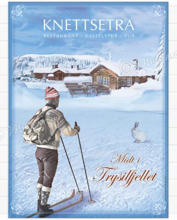 Knettsetra - Plakat poster skiplakat fra Trysil