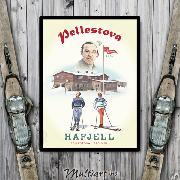 Pellestova - Plakat poster skiplakat fra Hafjell