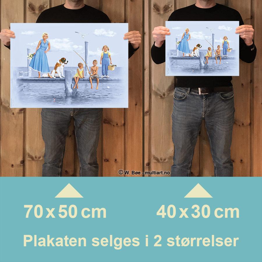 Saltkråkan plakat selges i to størrelser