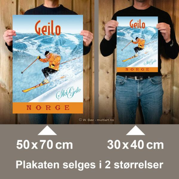 Geiloplakaten selges i to størrelser: 30x40 og 50x70 cm.