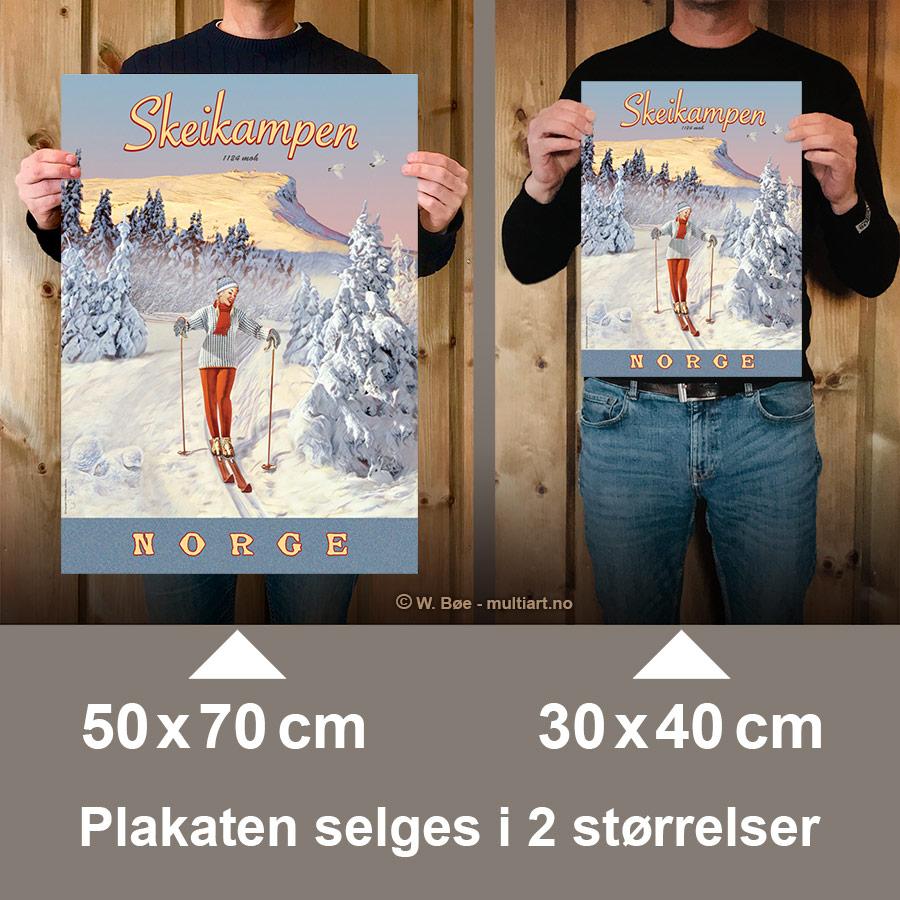 Skeikampen plakat finnes i to størrelser