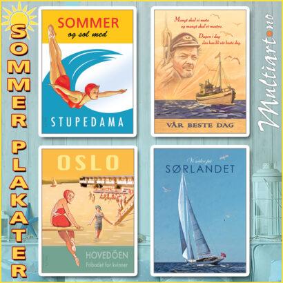 Sommerplakater fra Multiart.no